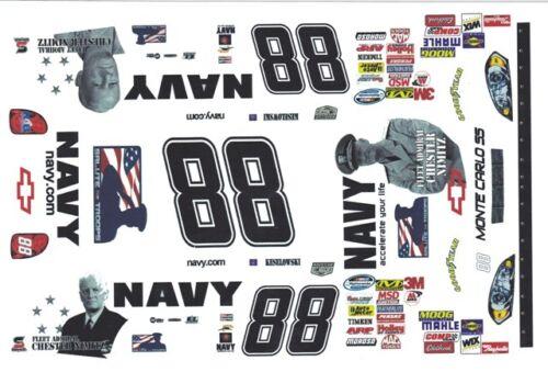 #88 Brad KKeselowski  Navy 2008 1//43rd Scale Slot Car Decals