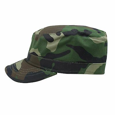 Castro Military Blue 100/% Cotton Army Cadet Cap Hat Rasta Rastafari Urban ARMY