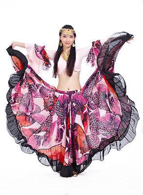 Bauchtanz Kostüm Tribal Flamenco Böhmen 720° Big Rock Belly dance Skirt Dress