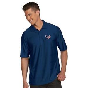 New-Antigua-Houston-Texan-Illusion-Xtra-Lite-Polo-Golf-Shirt-Navy-Size-M-S148