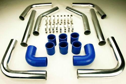 Intercooler Set di Montaggio Kit Tubi 2,5 Pollici 63,5mm Turbo A3 Tt 1.8T A4