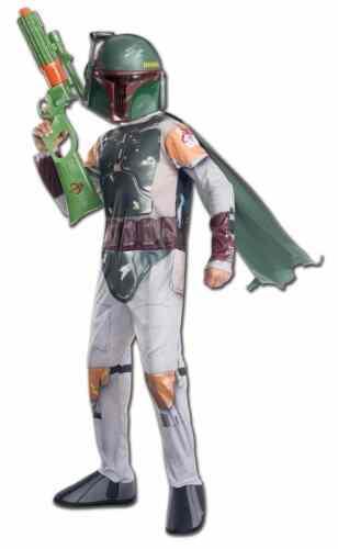 Boba Fett Star Wars Classic Bounty Hunter Fancy Dress Up Halloween Child Costume