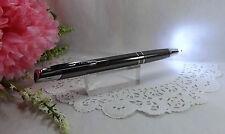 2 in 1 Marval Gunmetal Lighted Tip Night Writer Ballpoint Pen  - HIGH QUALITY