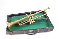 schöne alte Trompete im Koffer Konzerttrompete Transportkoffer Mundstück