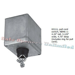 Liftmaster 02111 Indoor Single Pull Switch Control Indoor