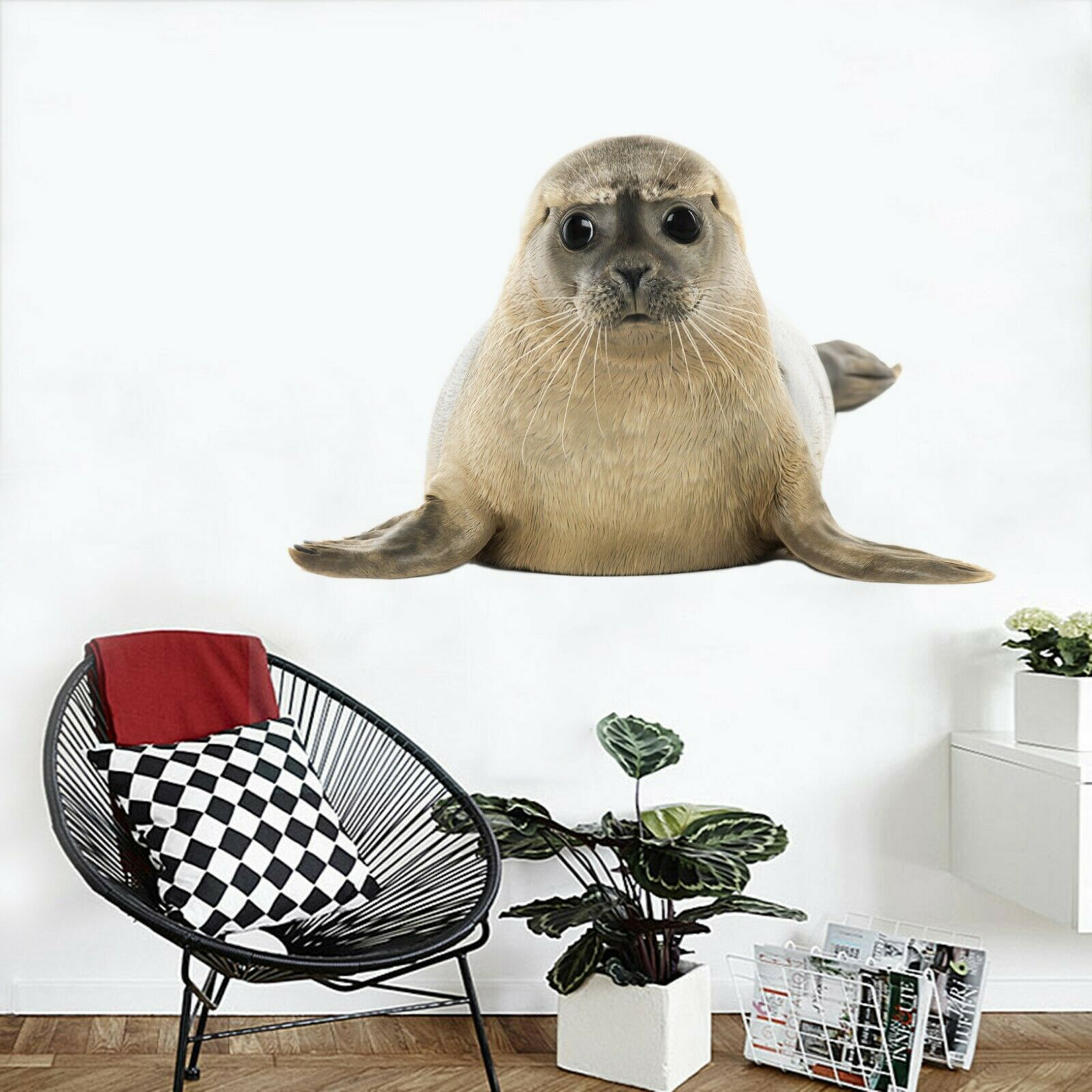 3D Sea Lion O107 Animal Wallpaper Mural Poster Wall Stickers Decal Ange