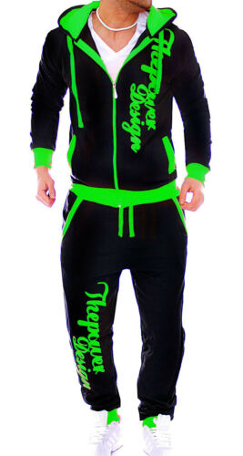 Men/'s Tracksuit Jogging Pants Jacket Trackies Neon Camouflage Fitness New