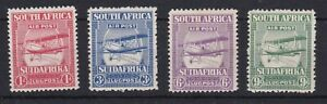 BC539-South-Africa-1925-Airmail-set-of-4-fresh-MUH