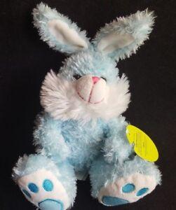 Blue-White-Bunny-Rabbit-Stuffed-Plush-DAN-DEE-8-034-Easter