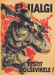 JOIN THE LEGION! Vintage German Estonia WW2 Canvas or Poster Print ESTONIAN