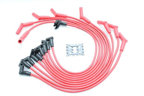 Clear HEI Distributor Coil Red 8.5mm Spark Plug Wires 88-95 Ford 7.5L 460 V8