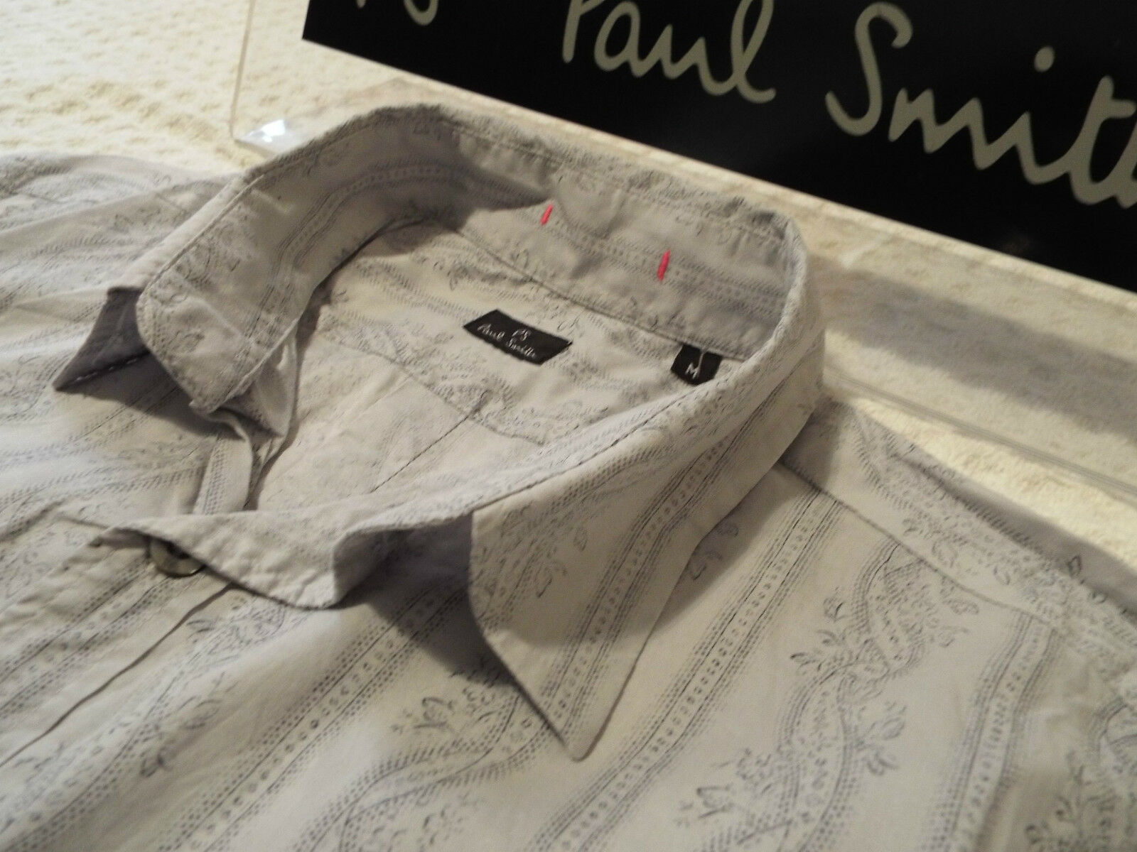 PAUL SMITH Mens Shirt  Size M (CHEST 38 )  RRP + FLORAL STYLE STRIPES