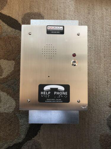 Alpha RCB2100SR Stainless Steel Refuge Call Box for Alpharefuge 2100 Series