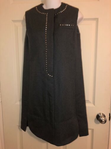 Youth Guild Vintage Gray Wool Studded Twiggy Dress