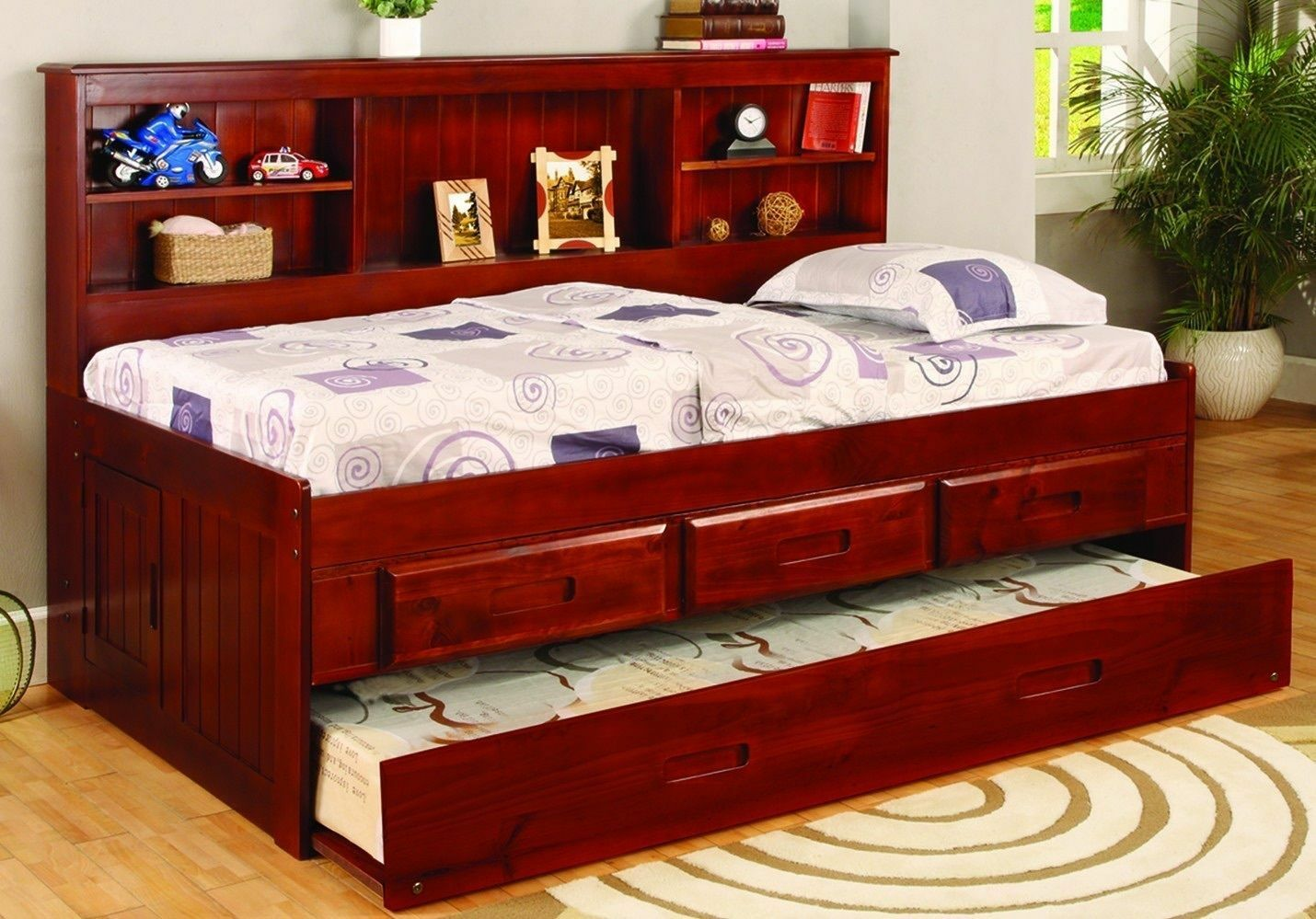 Twin Daybed Storage Bookcase