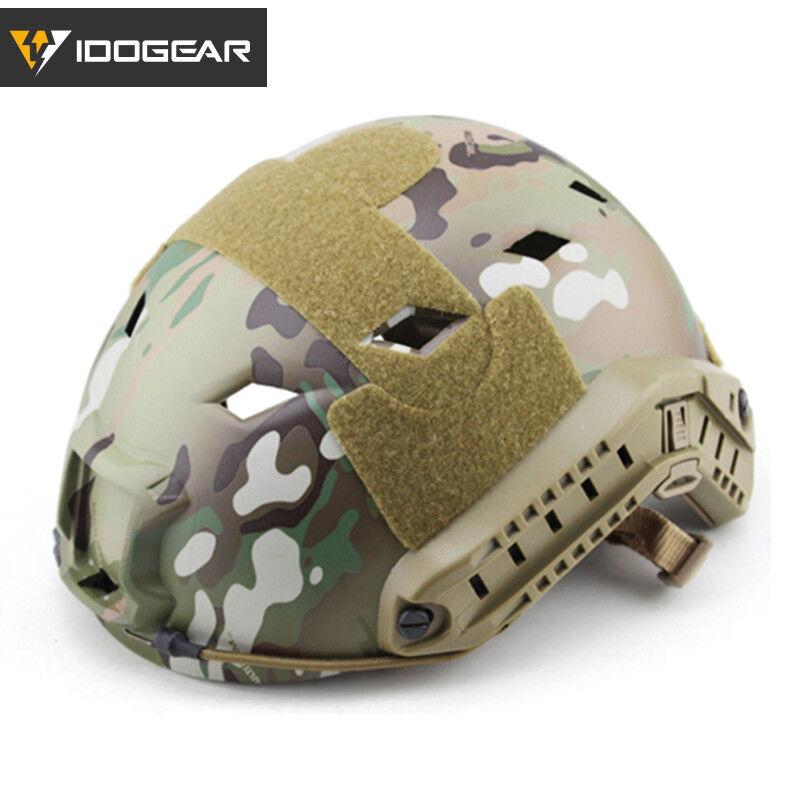 IDOGEAR Tacitcal FAST Helmet BJ Type Military Airsoft Headwear w  Side Rail Camo