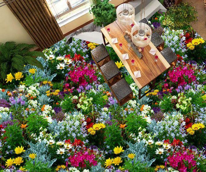 3D Fleurs 12  Fond d'écran d'écran d'écran étage Peint en Autocollant Murale Plafond Chambre Art | Spécial Acheter  fa3bf0