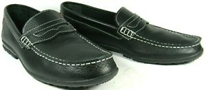 FootJoy-Men-039-s-Shoes-Penny-Loafers-Black-Leather-Casual-Comfort-Club-11-5M