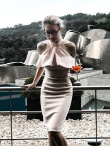 épaules soirée à dénudées pour de Millen Robe 38 femmes 7 € Karen fourreau crayon ctqY00Sn