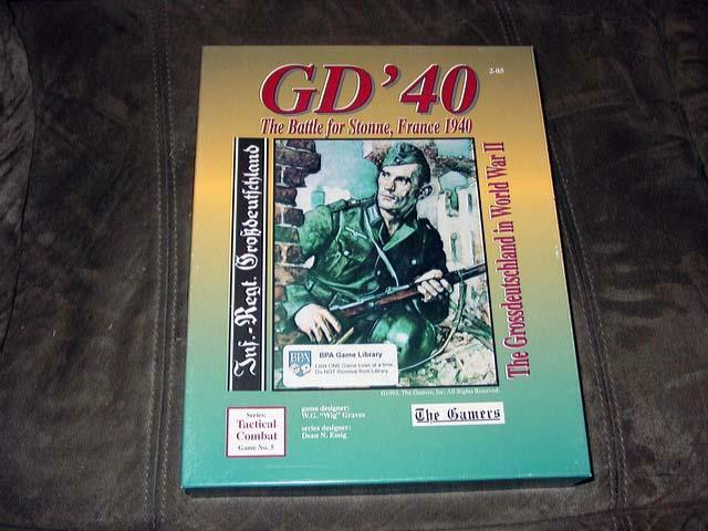 The Gamers 1993 - GD' 40 - WW2  The Battle for Stonne, France 1940 (UNPUNCHED)