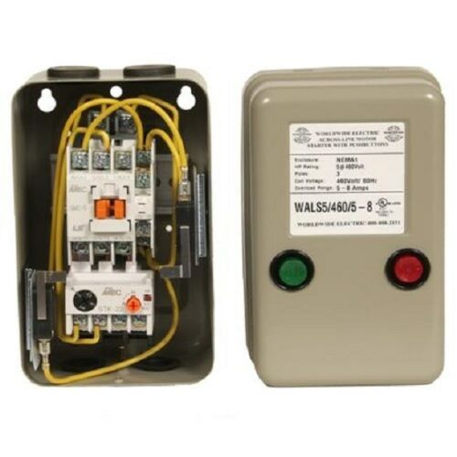 WALS3-7.5//115//9-13 NEW WORLDWIDE ACROSS-LINE MAGNETIC MOTOR STARTER