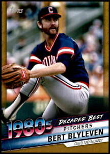 Bert Blyleven 2020 Topps Decade's Best Series 2 5x7 Gold #DB-61 /10 Indians