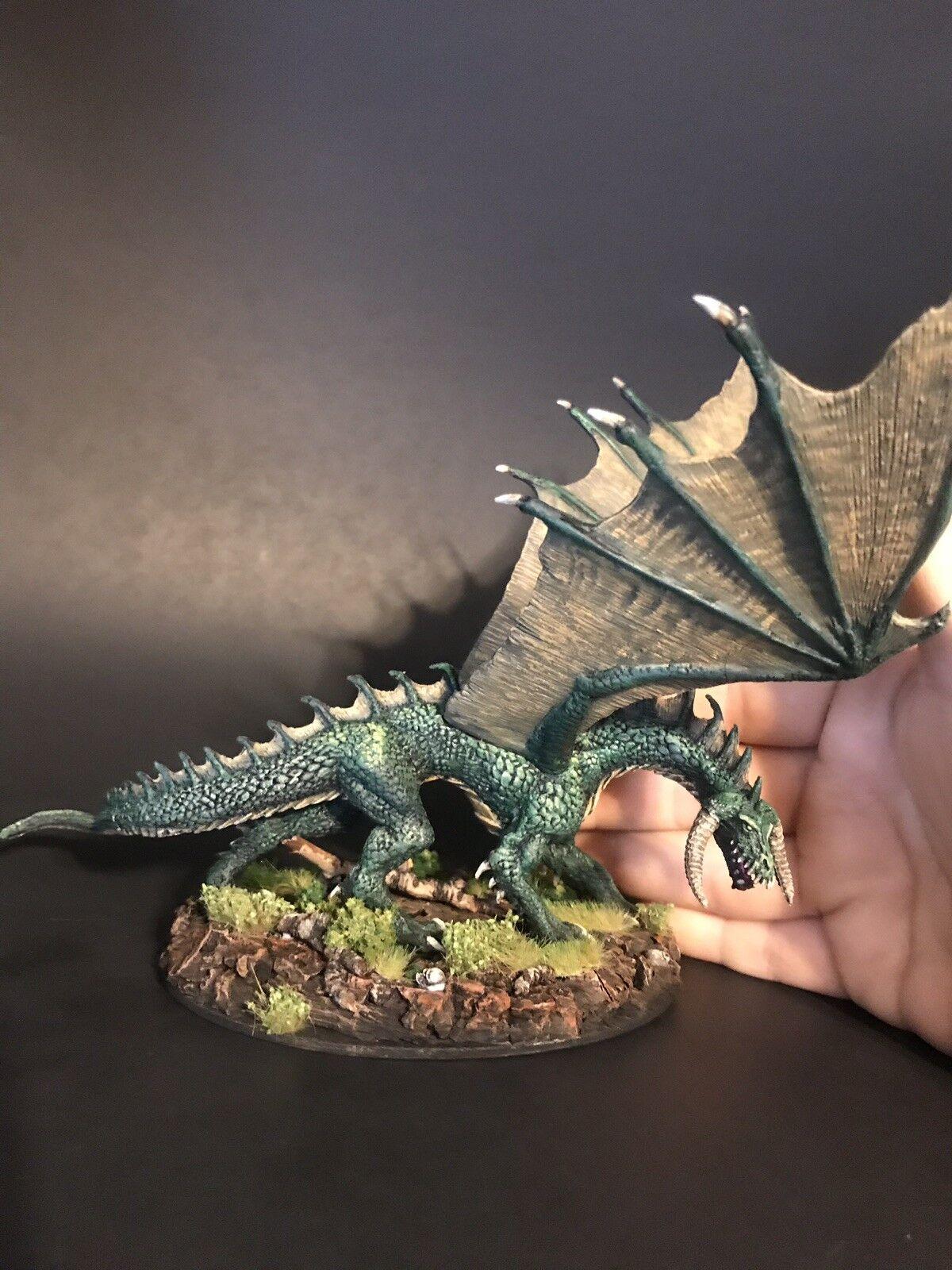 Pro Målad vuxen  Ancient grön drake Dand Pathfinder Mini Dungeons and drakes