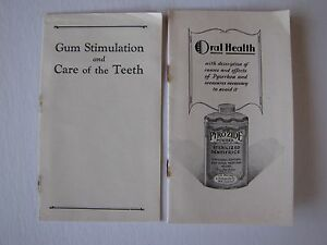two 1929 pyrozide powder dentifrice advertising booklets ebay