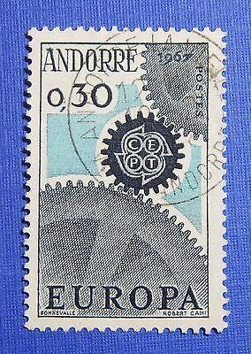 1967 Andorra French 30c Scott# 174 Michel # 199 Used Cs29242 Andorra