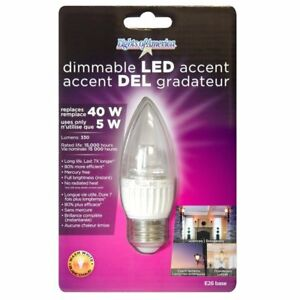 Lights of America Dimmable LED Torpedo Bulb Warm White ...