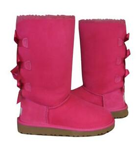 8cbe1926993 Details about New NIB Ugg Classic Bailey Bow Tall Cerise Pink Youth Girls  Boots Womens Also!