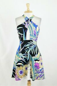 a4a18aed1 Image is loading Mara-Hoffman-Multicolor-Floral-Crossover-Front-Ponte-Fit-