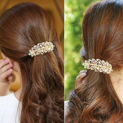 Fashion Crystal Rhinestone Flower Hair Barrette Clip Hairpin Women Jewelry Chic