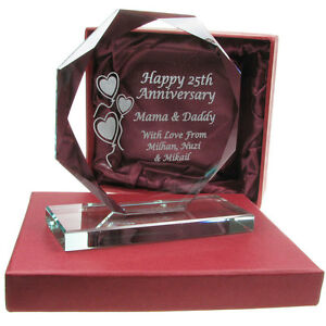 Image is loading 40th-Ruby-Wedding-Anniversary-Engraved-Cut-Glass-Gift-