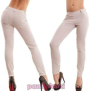 Pantaloni donna sigaretta eleganti skinny elasticizzati aderenti nuovi CC-1130
