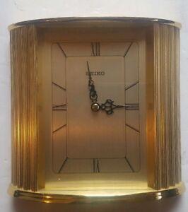 Vintage-Seiko-Gold-Tone-Quartz-Clock-QHG103GLH
