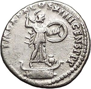 DOMITIAN-son-of-Vespasian-Silver-Ancient-Roman-Coin-Athena-Minerva-OWL-i57507