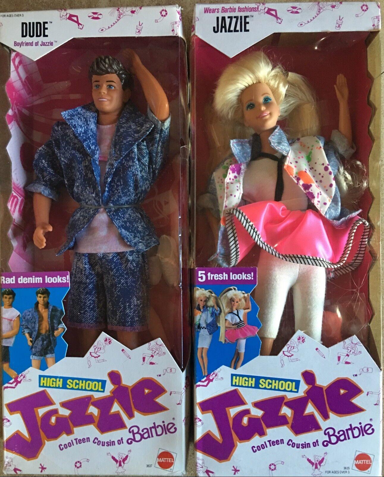 Barbie Mattel High School Jazzie e Dude Vintage 88' RARI