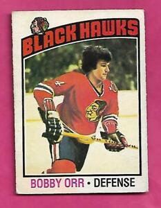 1976-77 OPC # 213 CHICAGO HAWKS BOBBY ORR GOOD CARD (INV# D5314)