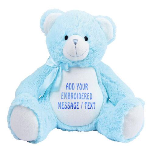 Large Blue Baby Bear 42cm Personalised Soft Teddy Bear Embroidered /& Pyjama Case