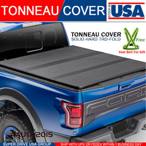 Lock Solid Hard Tri-Fold Tonneau Cover Fits 2004-2020 Ford F150 5.5ft Short Bed