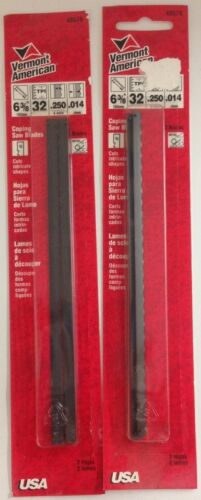 """48579 Vermont American 6 3//8/"""" 32 TPI Coping Saw Blades 2-2 Packs 4 Blades"""