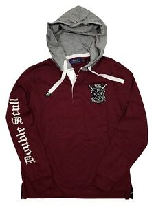 4828fc8a7 Polo Ralph Lauren Men's Classic Wine Burgundy Rugby Henley Hooded ...