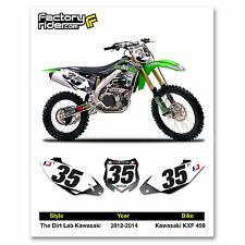 2012-2014 KAWASAKI KXF 450 The Dirt Lab Dirt Bike Graphics Custom Number Plates