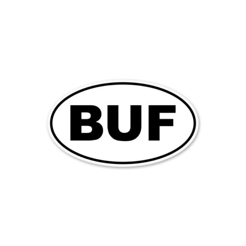 "Buffalo BUF White City Oval car window bumper sticker decal 5/"" x 3/"""