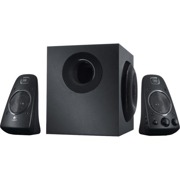 Black One Size 2.1 Speaker System Renewed Logitech 980-000402-cr Z623 400 Watt Home Speaker System