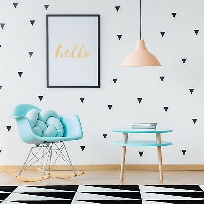 150 Triangles Wall Decal Individual Stickers Children Art Decor Bedroom Nursery