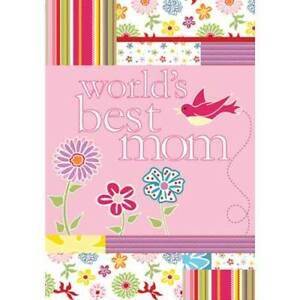 World's Best Mom Decorative House Flag