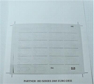 Other Telecom Systems Lot of 5 Paper Desi Label Strip Partner 18D ...