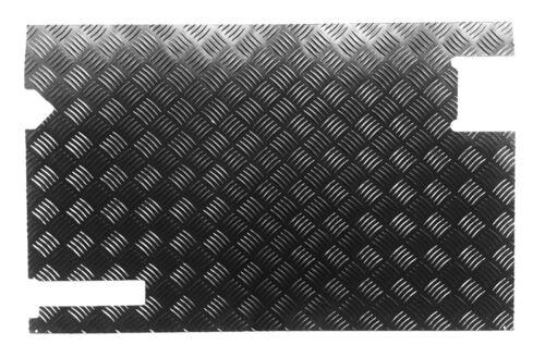 Porte Arrière Carte àpd 98 2 Mm Jusqu/'à 2007 Chequer Plaque Noir Defender